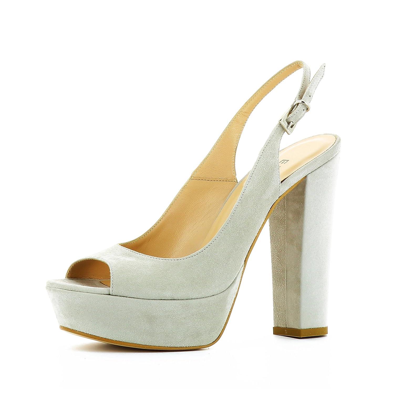 Evita Shoes Stefania - Zapatos de vestir de Piel para mujer 40 EU|gris claro