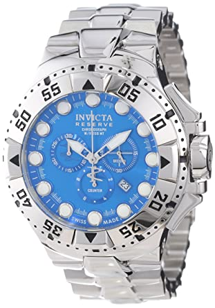 e229e02ef Amazon.com: Invicta Men's 13081 Excursion Reserve Chronograph Blue Dial  Stainless Steel Watch: Invicta: Watches
