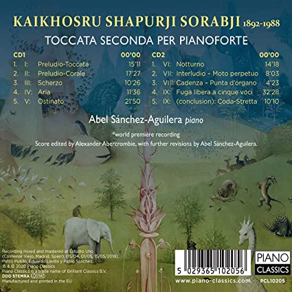 Abel Sanchez Aguilera Kaikhosru Shapurji Sorabji Toccata Seconda Per Pianoforte Amazon Com Music