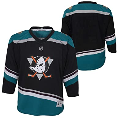 super popular adb4a 1ee0b Amazon.com: Anaheim Ducks Black Teal Blank Youth Alternate ...