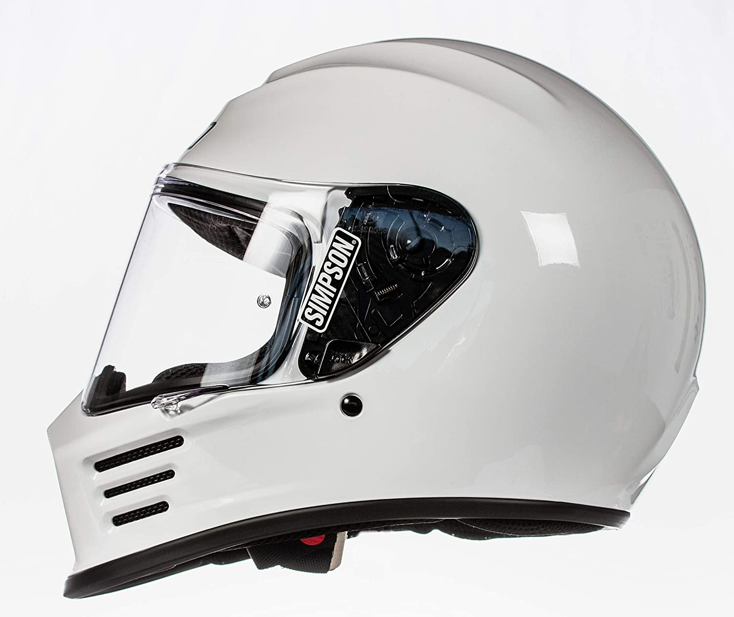 Simpson SPBXS1 Speed Bandit Full Face Motorcycle Helmet Size XS Clear Shield Included White