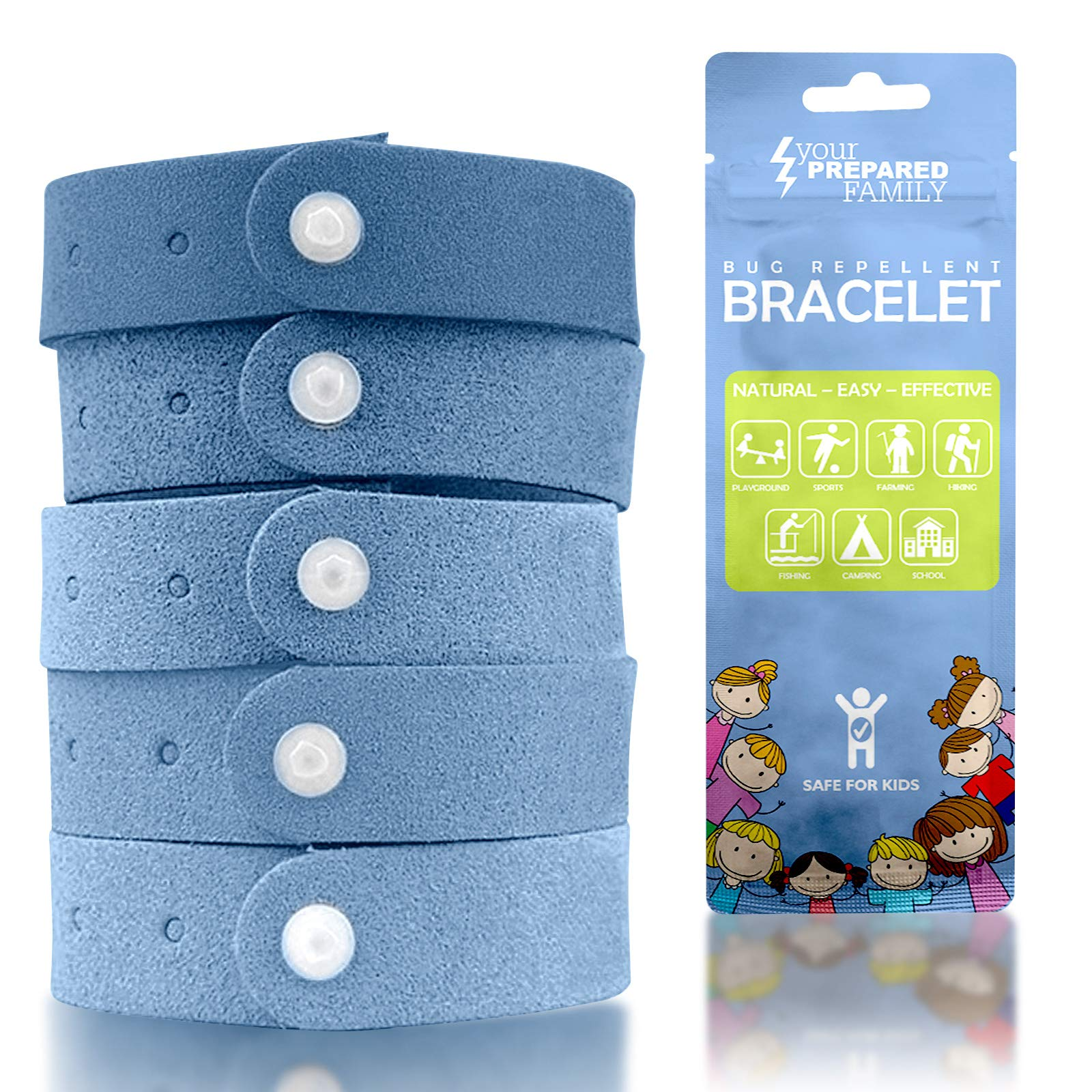 Mosquito Repellent Bracelet (10 Pack) Insect Repellent for Kids and Adults - Better Than Spray or Lotion for Outdoor Bug Protection - Travel Mosquito Repellent Bracelet is Natural and Deet Free