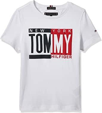 Tommy Hilfiger Puff Print tee S/S Camiseta para Niños