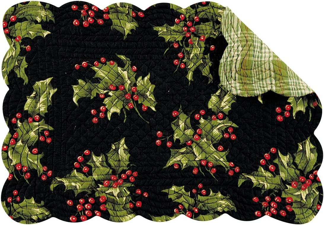 Teagan C/&F Home Set of 4 Pcs 13x19 Quilted Placemat