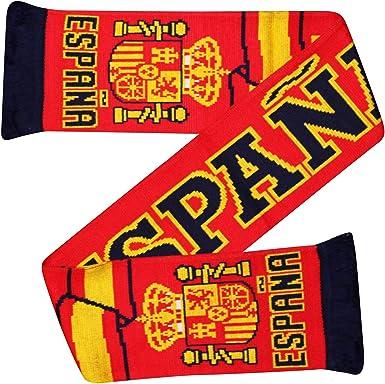 Bufanda para aficionados de la Copa Mundial de Fútbol de España (100% acrílico): Amazon.es: Ropa y accesorios