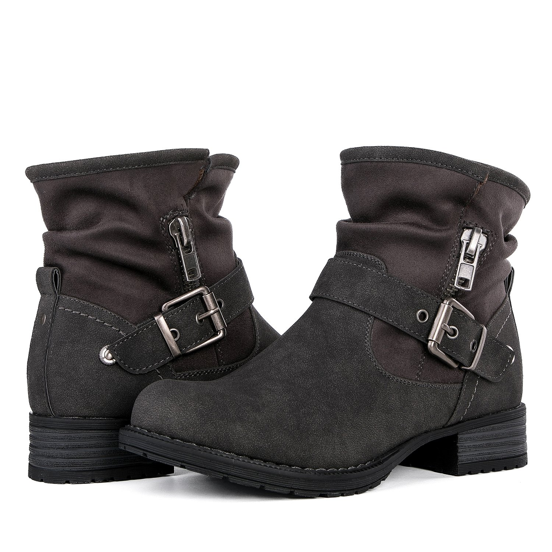 Globalwin Women's Grey Winter Fasion Boots 7.5M