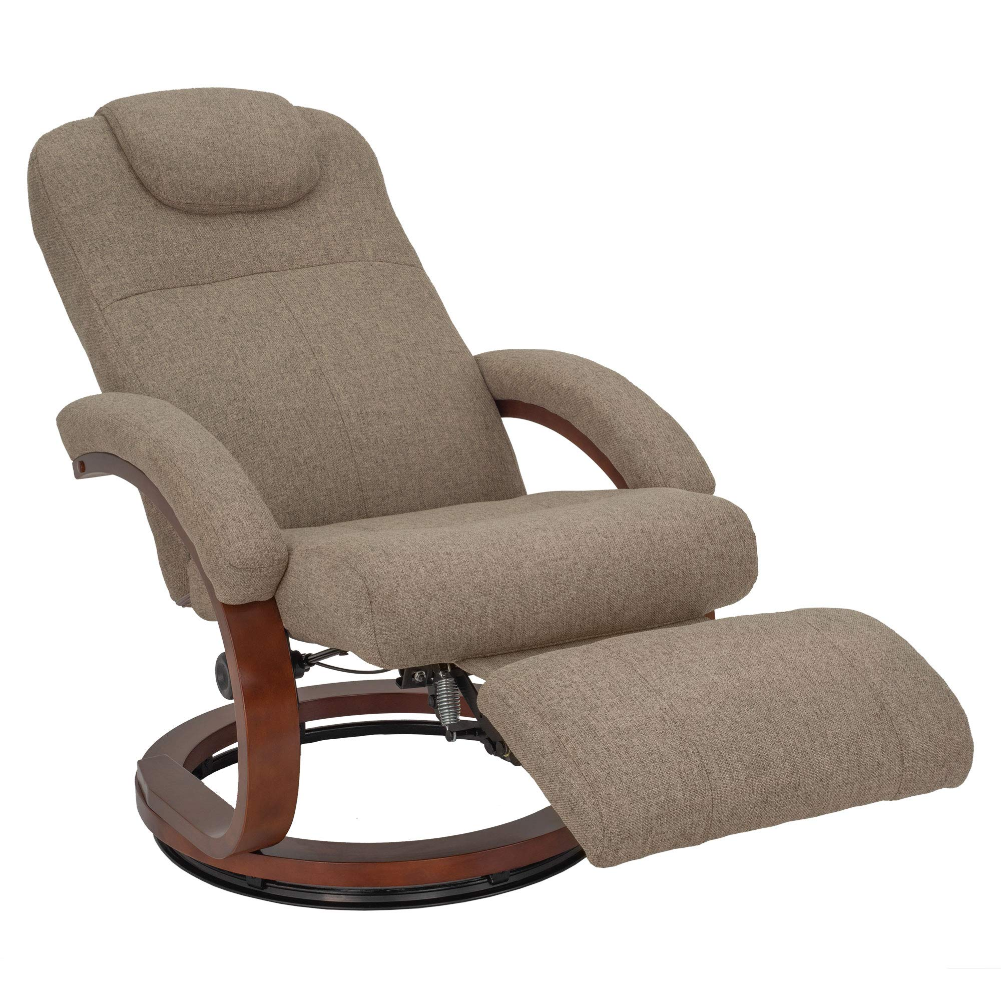 RecPro Charles 28'' RV Euro Chair Recliner | Modern Design | RV Furniture | Cloth (Oatmeal, 1 Chair) by RecPro