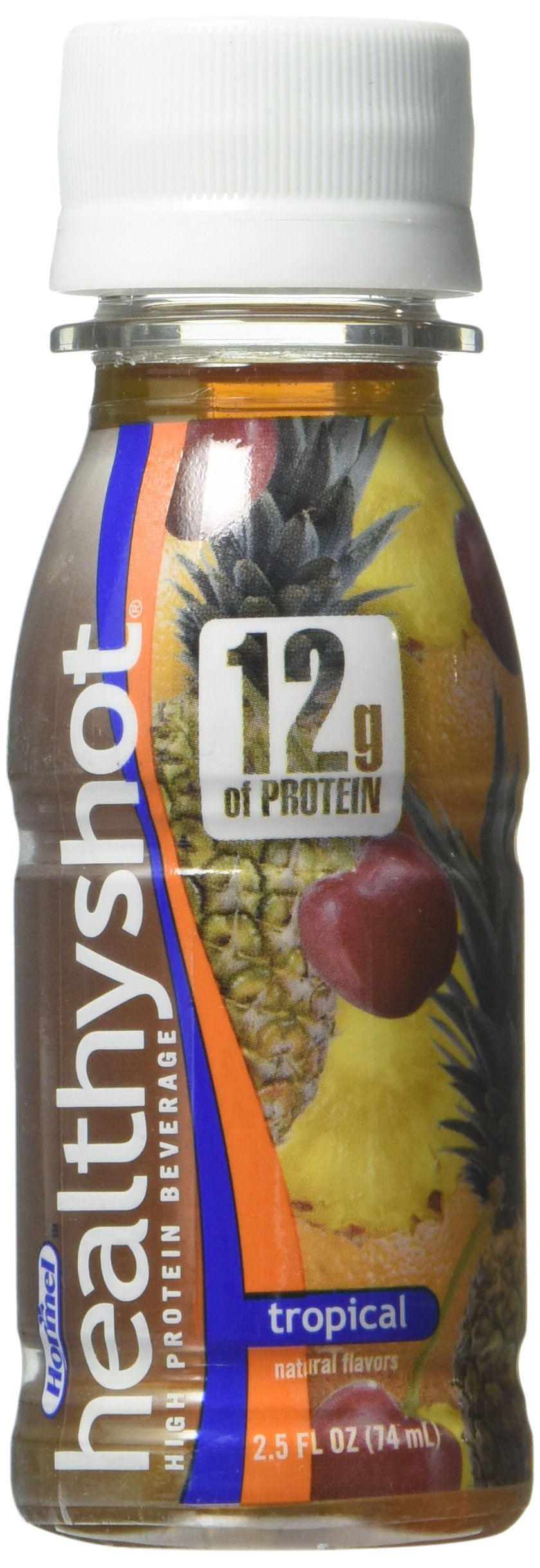 Healthy Shot High Protein Supplement Tropical Beverage, 2.5 Ounce -- 24 per case. by Hormel Healthlabs