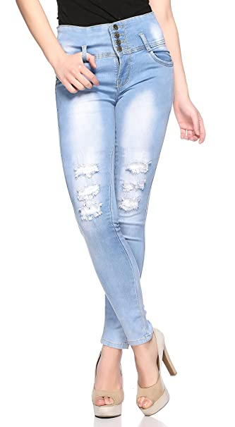 7fbf2b10f7e Fasnoya Women Skinny Fit Jeans (jeans283-26