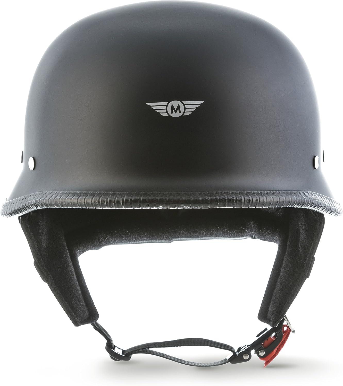 MOTO Helmets D33 Casco semi-integrale per moto chiusura rapida