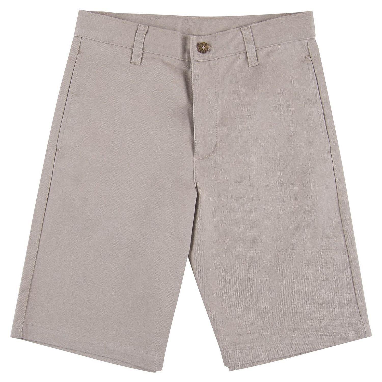 Arrow Boys Adjustable Waistband Flat Front School Uniform Shorts Khaki (6)