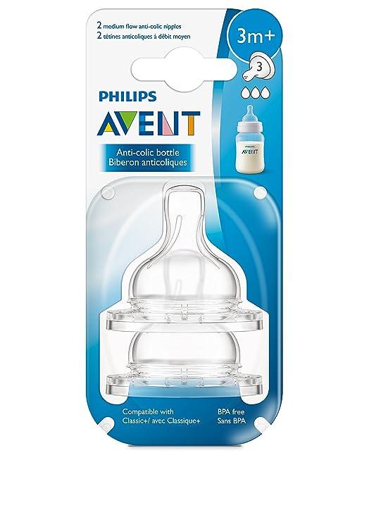 LOT OF 6 Phillips Avent Anti-Colic Nipple Newborn Flow 2 Ct