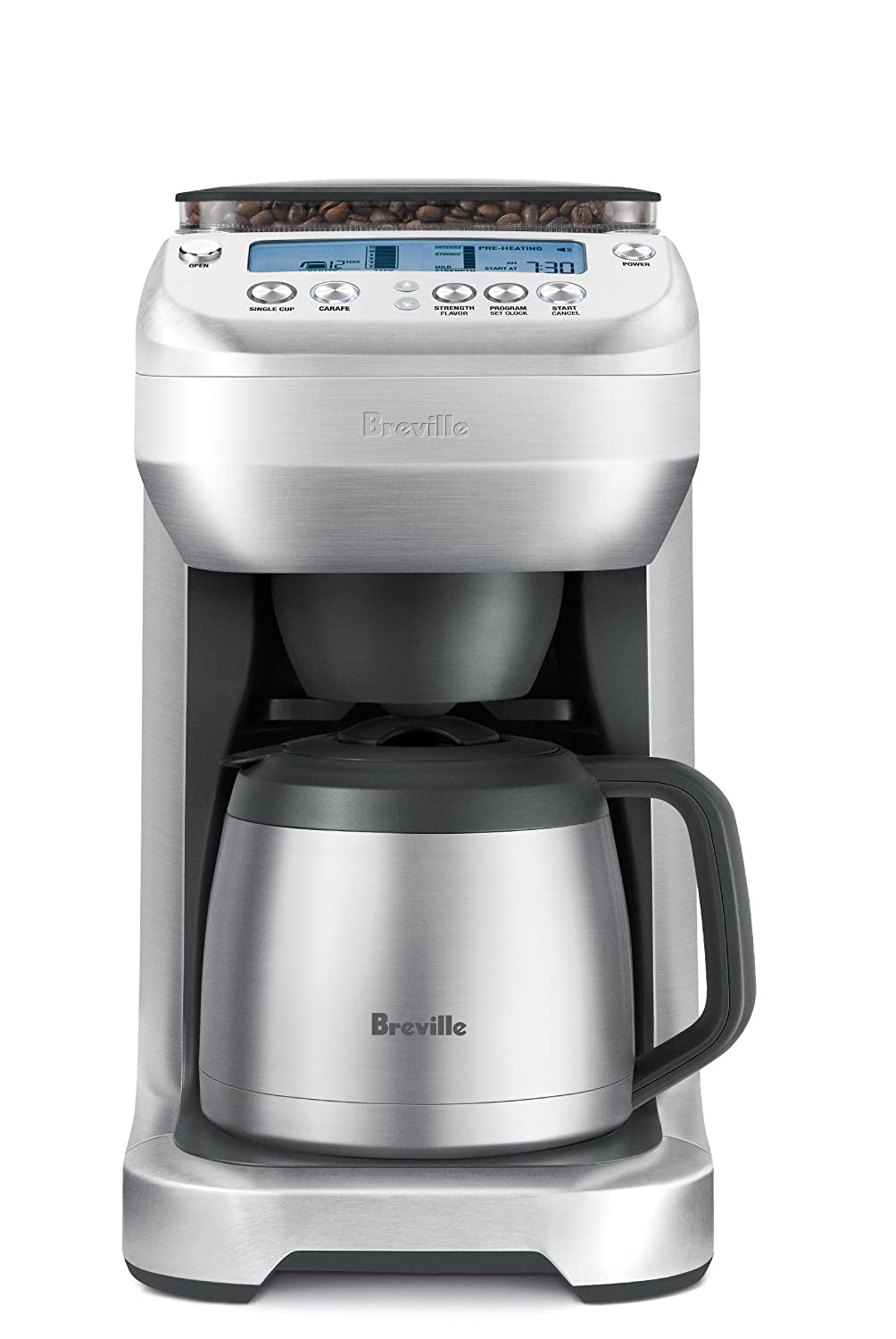 Coffee maker with grinder and thermal carafe - Amazon Com Breville Bdc600xl Youbrew Drip Coffee Maker Drip Coffeemakers Kitchen Dining