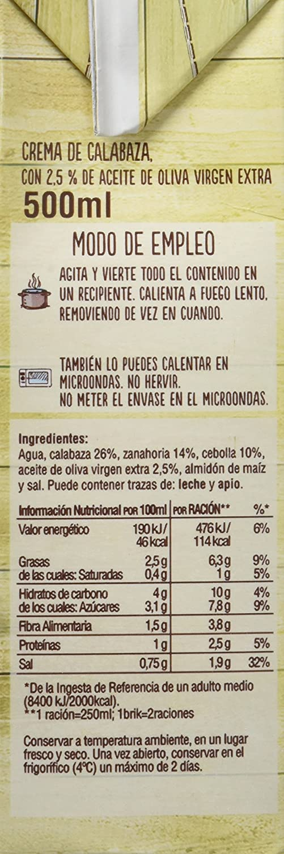 Gallina Blanca Crema Casera de Calabaza - Paquete de 12 x 500 ml - Total: 6000 ml: Amazon.es: Alimentación y bebidas