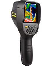 """New Higher Resolution 320 x 240 IR Infrared Thermal Imaging Camera. Model HTI-19 with Improved 300,000 Pixels, Sharp 3.2"""" Color Display Screen, Battery Included. Lightweight Comfortable Grip"""