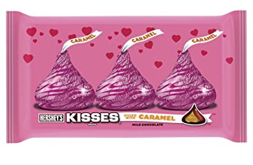 Hersheyu0027s Kisses Valentineu0027s Milk Chocolate Filled With Caramel, 10 Ounce  Bag