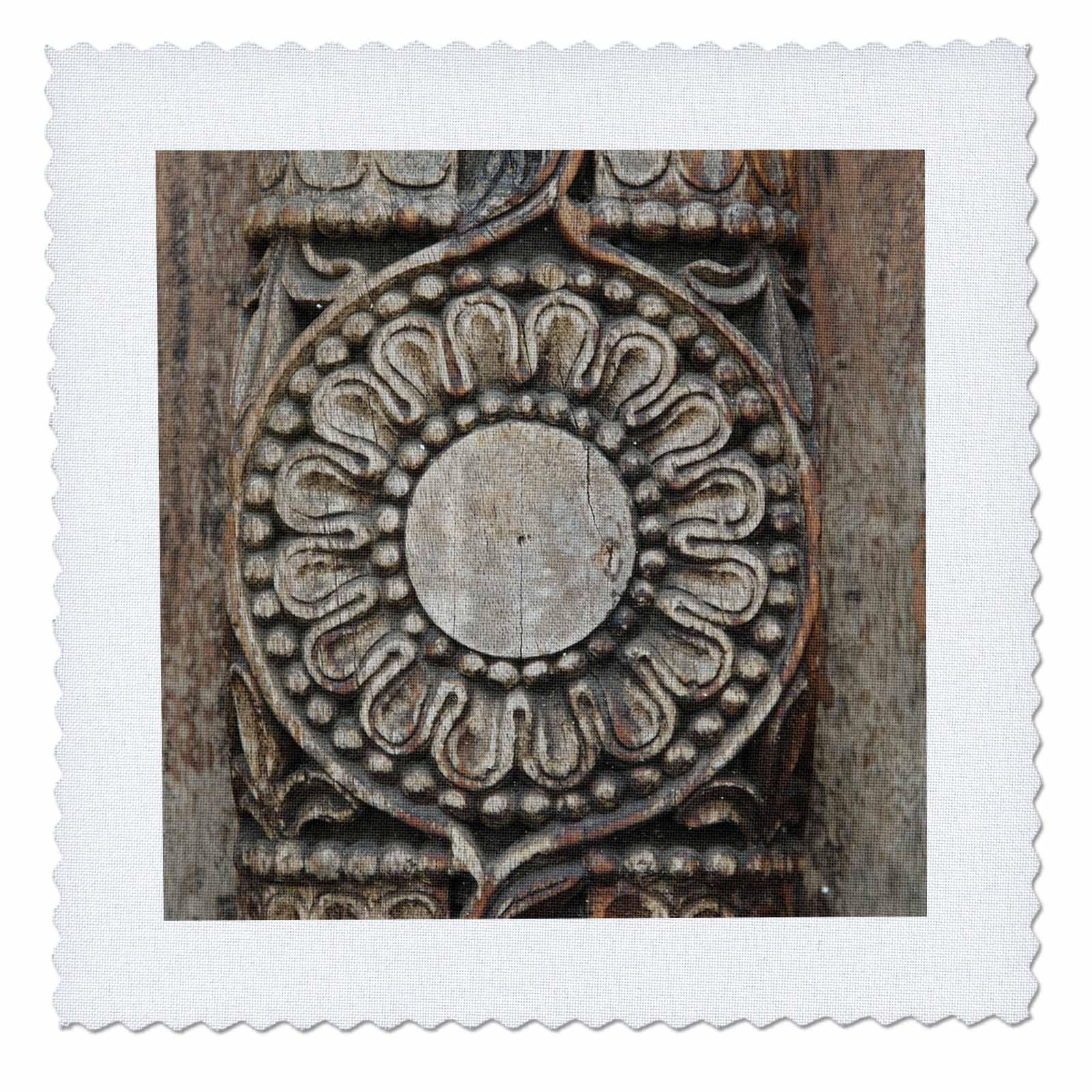 3dRose 3D Rose qs_75442_10 Tanzania: Zanzibar, Stonetown, Intricate Wood Carving-AF45 AJN0131-Alison Jones-Quilt Square 25-inch