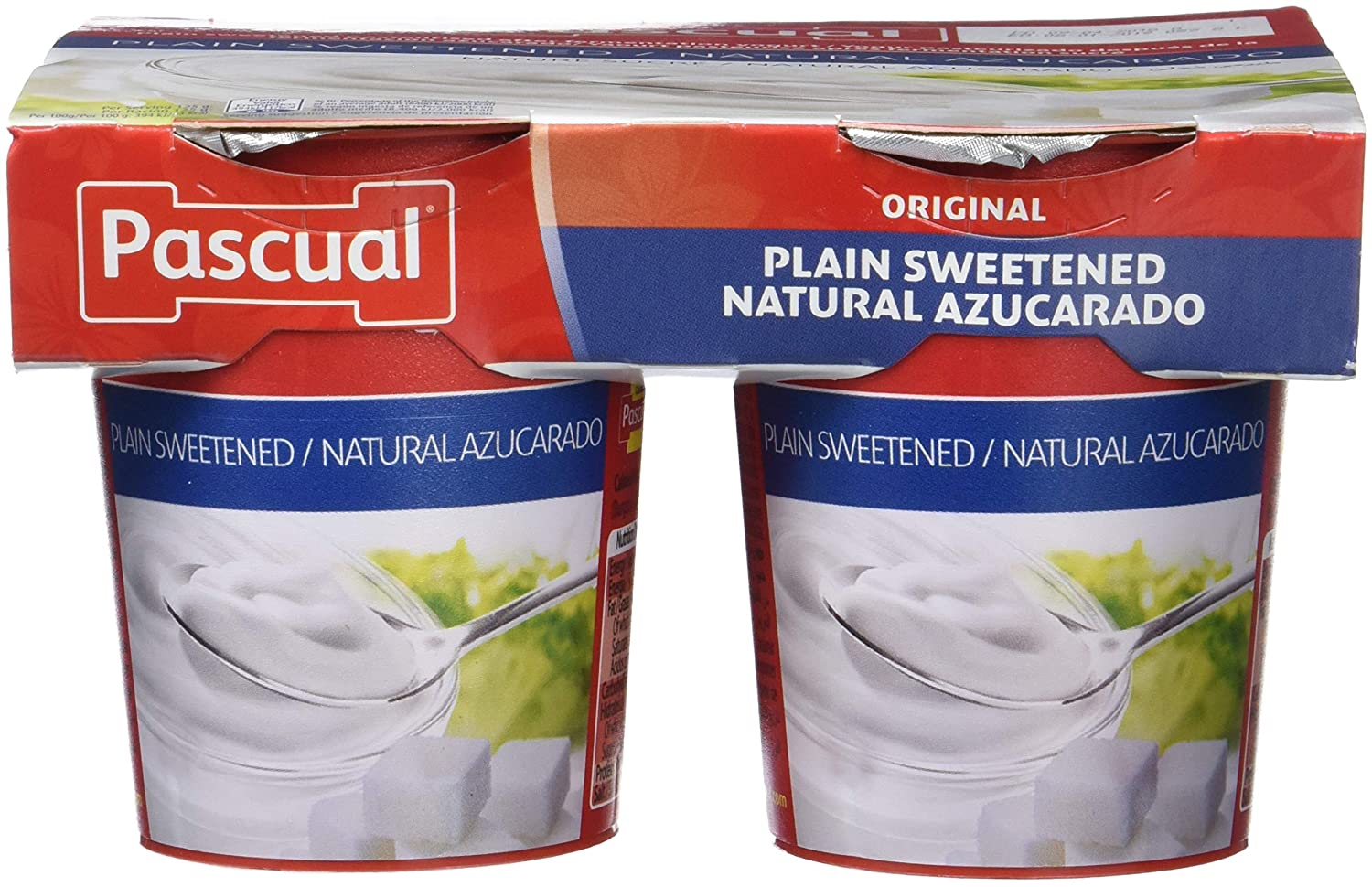 Pascual Yogur Natural Azucarado - Paquete de 4 x 125 gr - Total: 500 gr: Amazon.es: Amazon Pantry