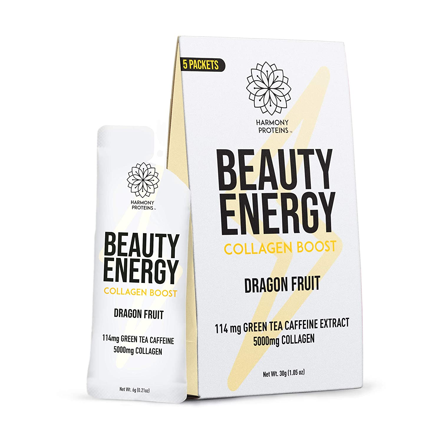 Proteins Collagen Beauty Energy Water, Dragon Fruit,1.05 oz