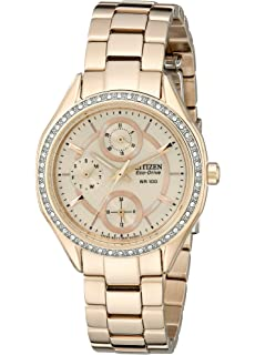 Drive From Citizen Eco-Drive Womens Watch with Crystal Accents and Date, FD1063-