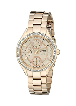 Drive From Citizen Eco-Drive Women s Watch with Crystal Accents and Date 02b4096346
