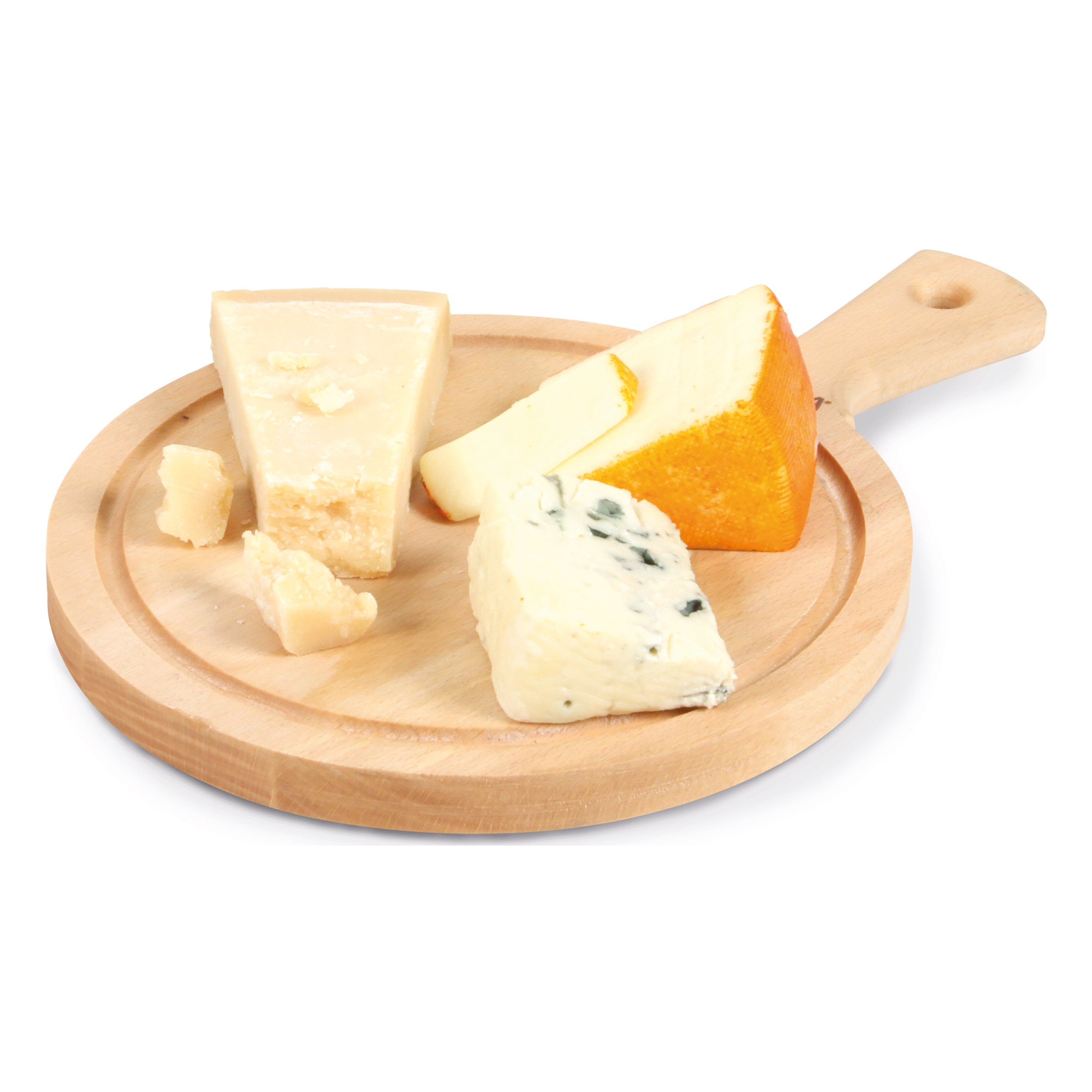 Boska Holland Beech Wood Cheese Board, Round Paddle Board, 9'' Diameter, Explore Collection