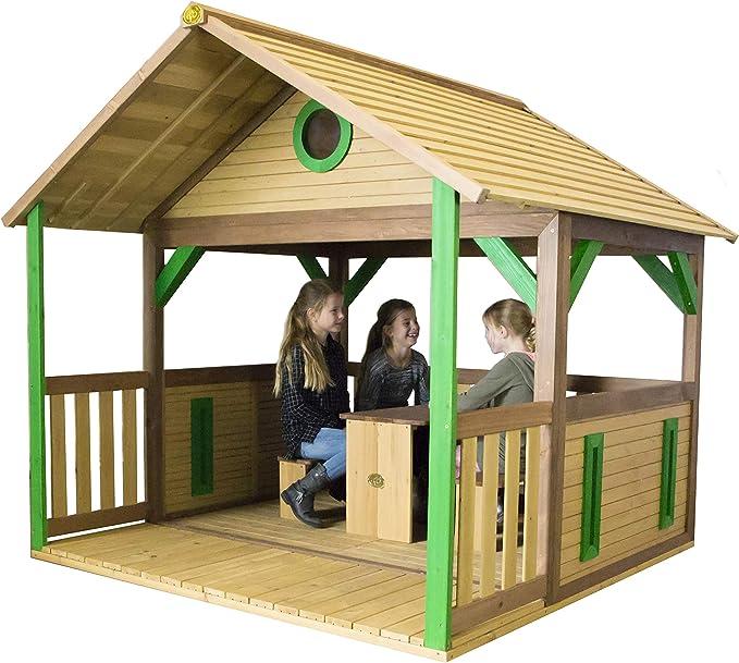 AXI Safari Zazou - Casas de Juguete (Casa de Juegos de Suelo, Niño/niña, 1,5 año(s), Marrón, Verde, Madera, 80 min): Amazon.es: Juguetes y juegos