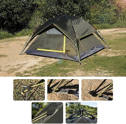 Tienda de campaña LESHP de armado rápido, automática para camping, senderismo, viajes, 3 personas: Amazon.es: Jardín
