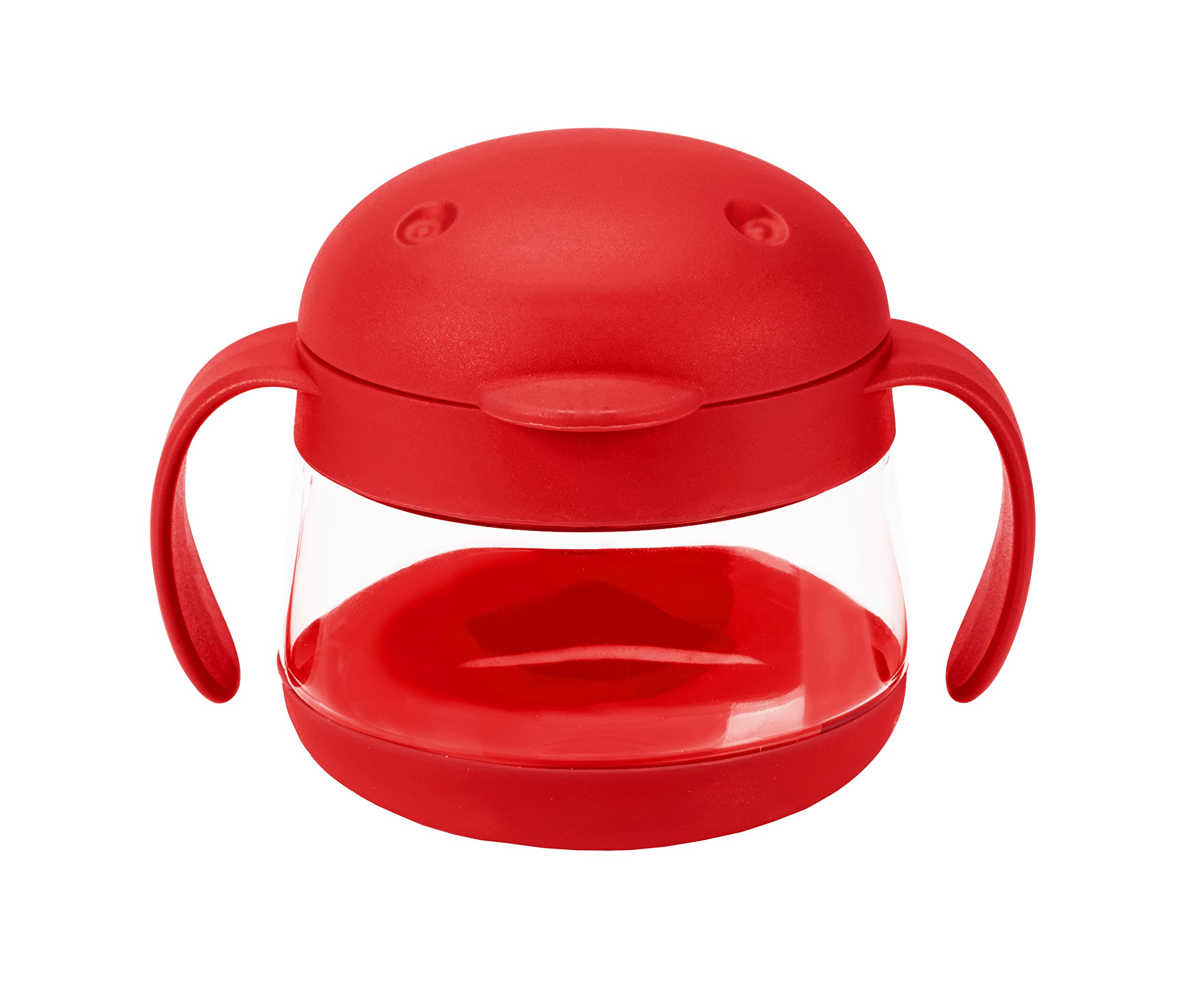 Ubbi Tweat Snack Container, Red, 9 Ounce