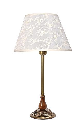 Premium lámpara de mesa de latón bronce floraler estilo e27 ...