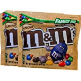 M&Ms Limited Edition Strawberry Nut / M&Ms Almond Resealable Zipper Family Size (Almond, 2)