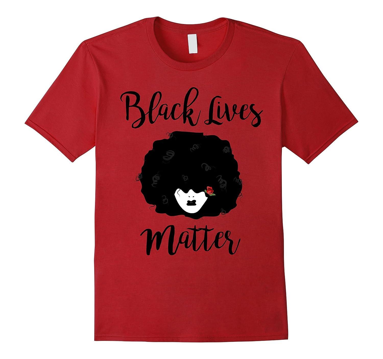 Afro Woman Black Lives Matter Slim Fit T-Shirt-TH
