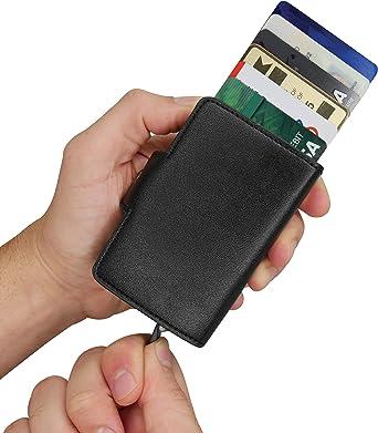 Amazon.com: Cartera de tarjeta rápida: delgada RFID con clip ...