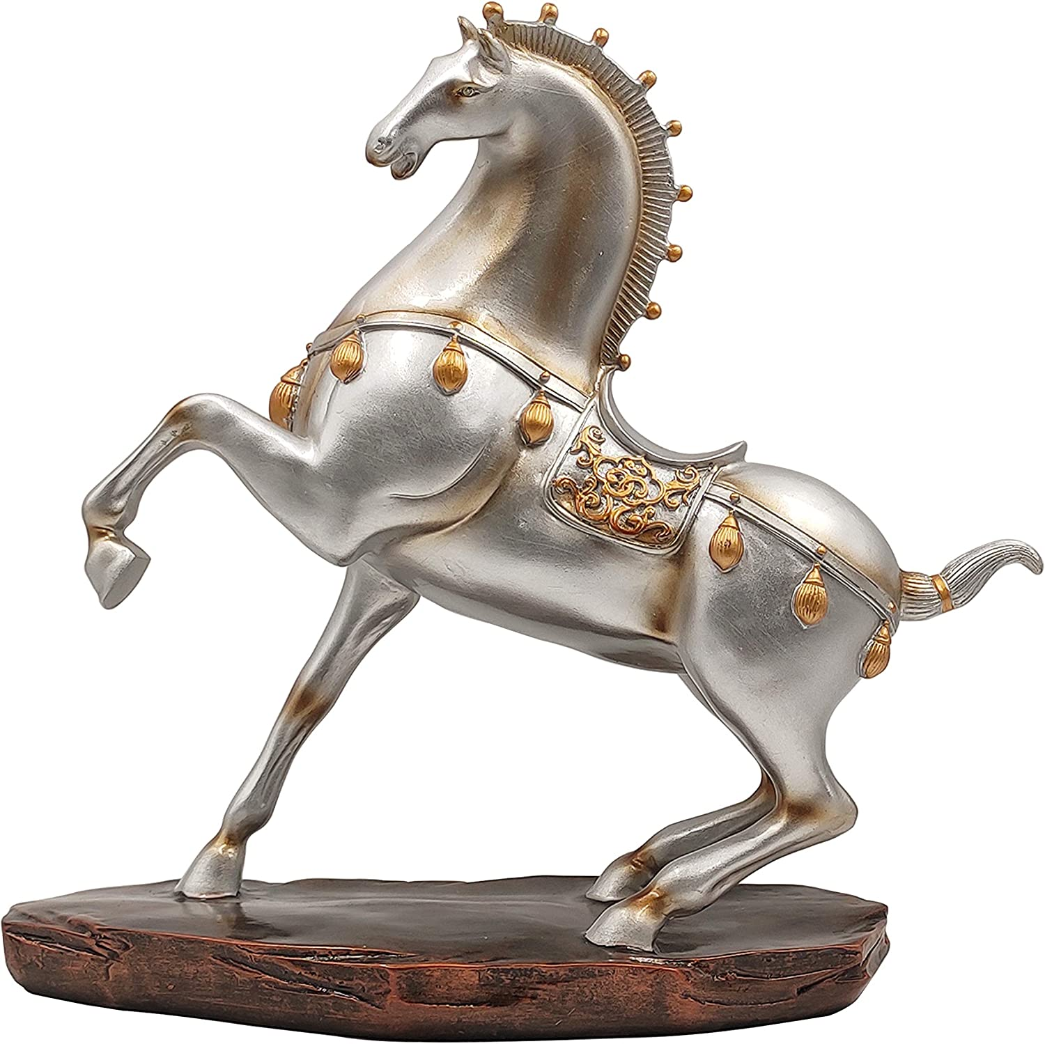 LOOYAR Antique Arabian Horse Resin Statue Sculpture Ornament Figurine Craft  Furnishing for Home Décor Farm House Living Room Porch Decoration Office ...
