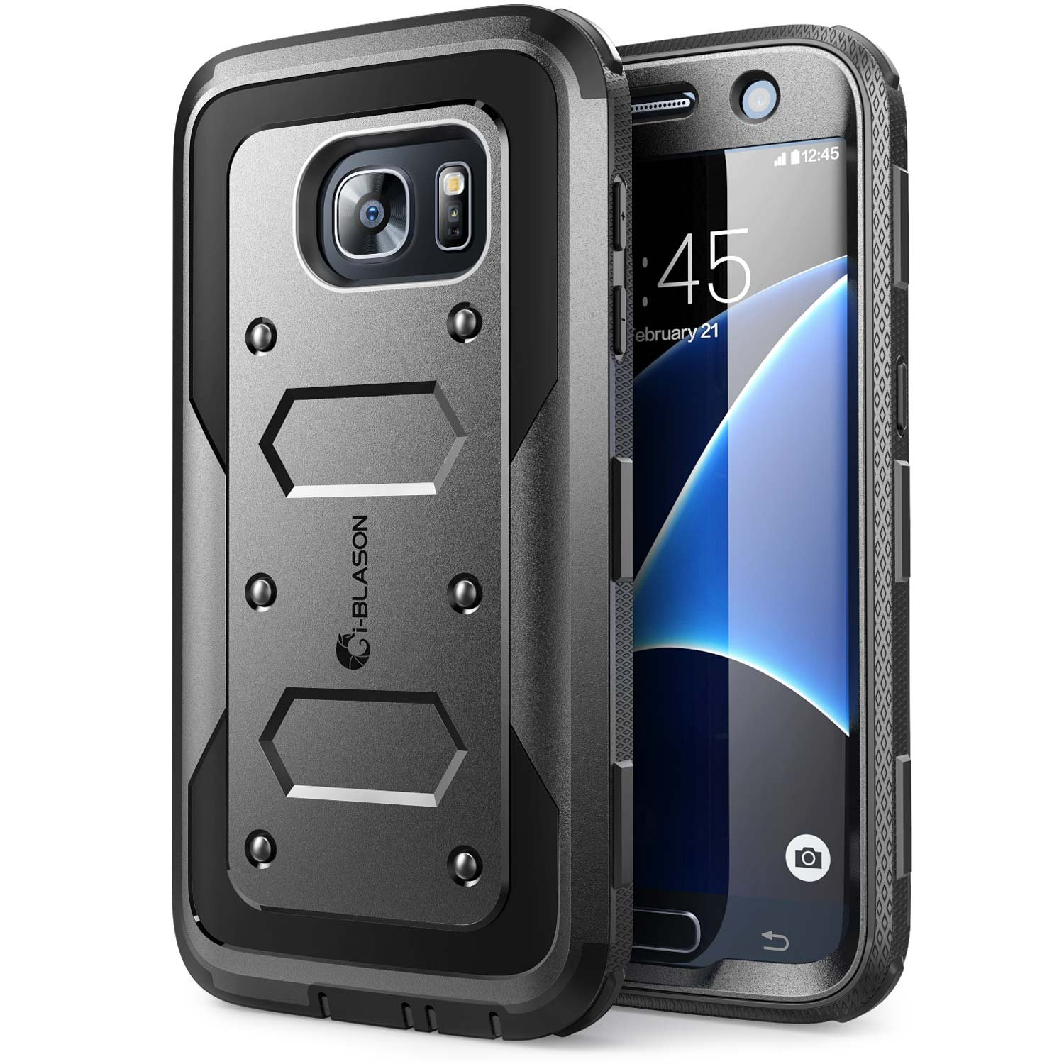 finest selection 4a060 bb441 Galaxy S7 Case, [Armorbox] i-Blason built in [Screen Protector] [Full body]  [Heavy Duty Protection ] Shock Reduction / Bumper Case for Samsung Galaxy  ...