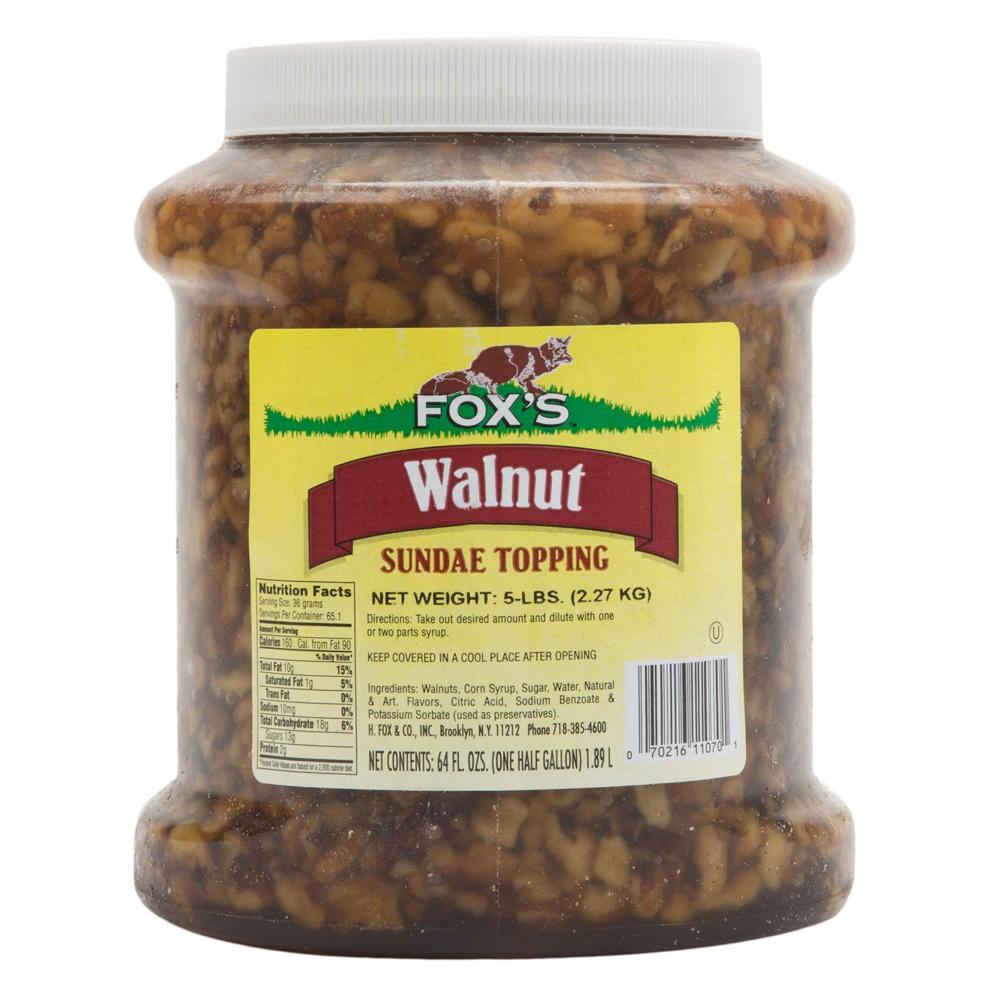 TableTop King 1/2 Gallon Walnut Ice Cream Sundae Topping - 6/Case