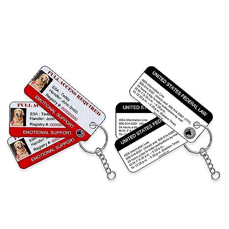 Amazon.com: Apoyo emocional perro ID Key Etiquetas (Conjunto ...