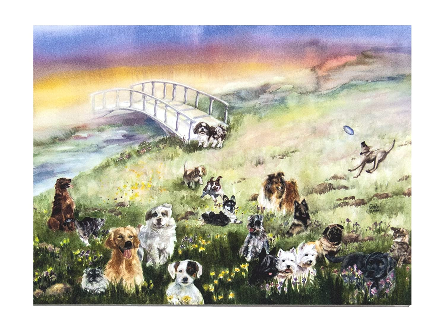 Rainbow Bridge Pet Sympathy Card for Dog Rainbow Card Company RB-1