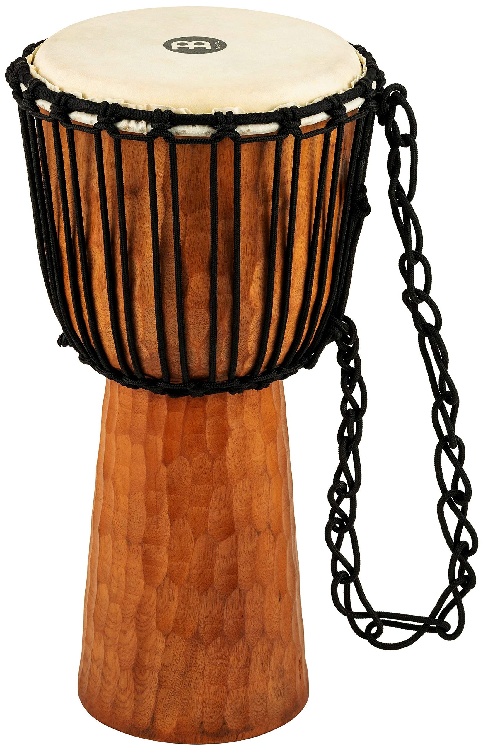 Meinl Djembe with Mahogany Wood - NOT MADE IN CHINA - 10'' Medium Size Rope Tuned Goat Skin Head, 2-YEAR WARRANTY (HDJ4-M) by Meinl Percussion