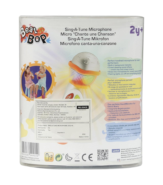 WinFun Micrófono cantarín Beat Bop (CPA Toy 2052): Amazon.es: Juguetes y juegos