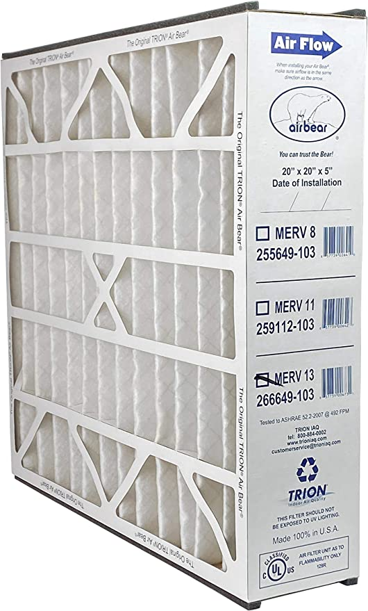 2-Pack 255649-103 Actual Size: 19 11//16 x 20 11//16 x 4 7//8 Filters Fast Compatible Replacement for Trion Air Bear 20 x 20 x 5