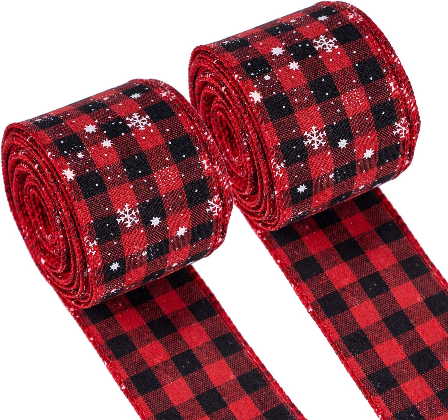 Holiday Decoration 50 Yard Roll Craft Royal Imports Black//Red Buffalo Checkered Plaid Ribbon Bulk 150 FT Spool 2.5 #40 Gingham Design for Floral