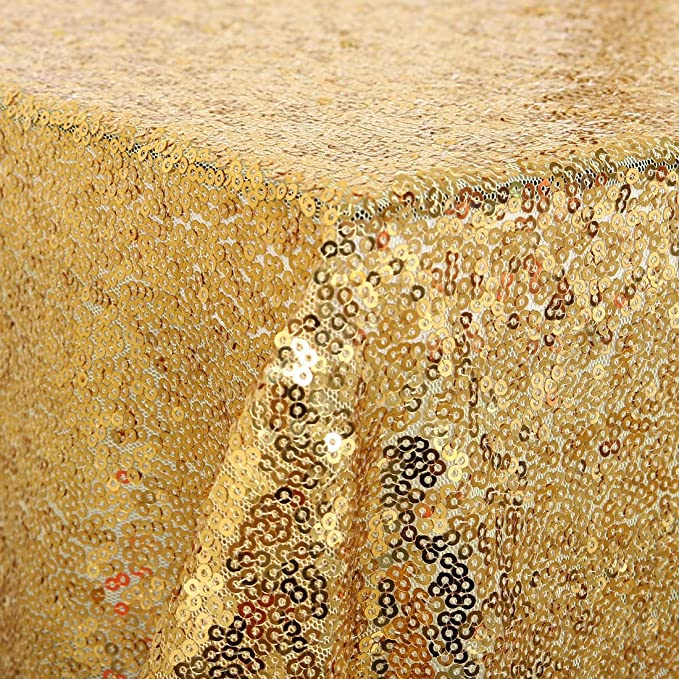 Amazon.com: eDealMax Mantel, Sparkle lentejuelas Cubierta de mesa, 60x120 oro rosa Para la decoración de la boda del Partido: Home & Kitchen