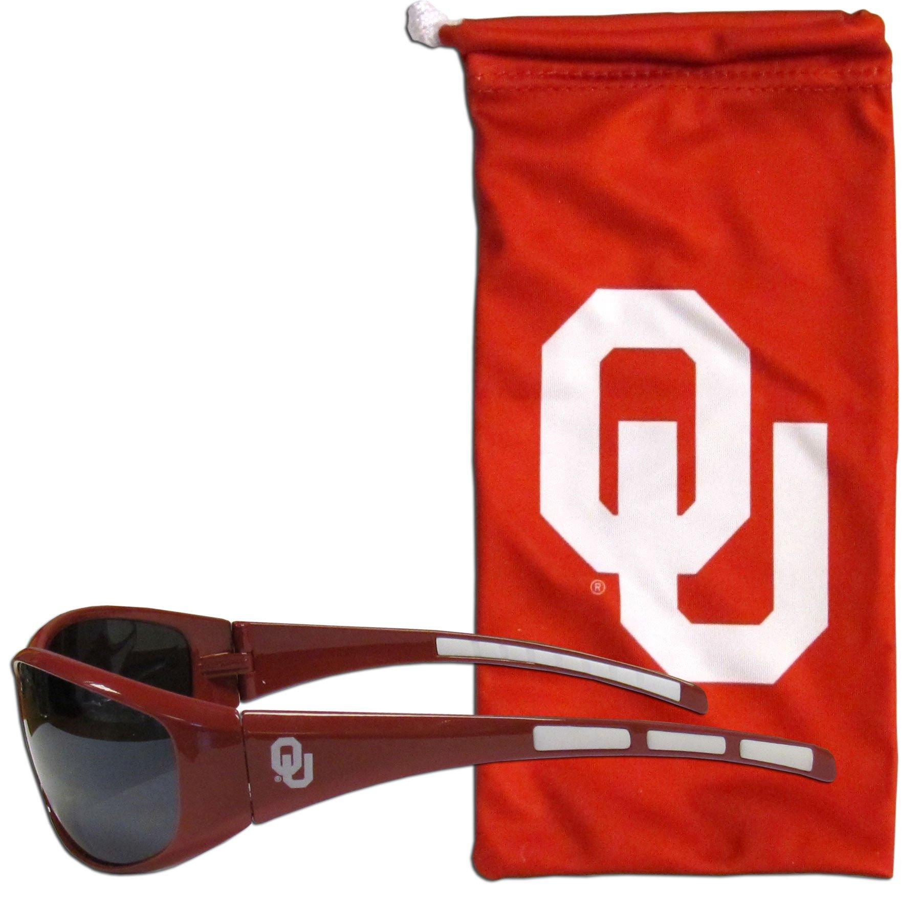 Siskiyou NCAA Oklahoma Sooners Adult Sunglass and Bag Set, Red