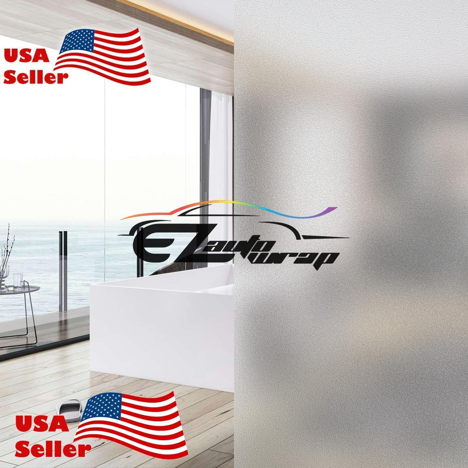 EZAUTOWRAP Frosted Glass Peel And Stick Window Film Home Bedroom Bathroom Privacy Waterproof Sticker Decal - 4''X8'' (10cm x 20cm) Sample