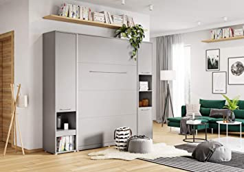 BIM Furniture Concept PRO - Cama plegable de pared, color gris: Amazon.es: Juguetes y juegos