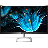 "Philips 328E9FJAB 32"" curved frameless monitor, Quad HD 1440P, 122.6% sRGB & 102% NTSC, FreeSync, HDMI/DisplayPort/VGA, VESA"