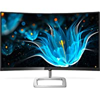 "Philips Computer Monitors 328E9QJAB 32"" Curved Frameless Monitor, Full HD VA, 128% sRGB, FreeSync, 75Hz, VESA, 4Yr Advance Replacement Warranty, Black"
