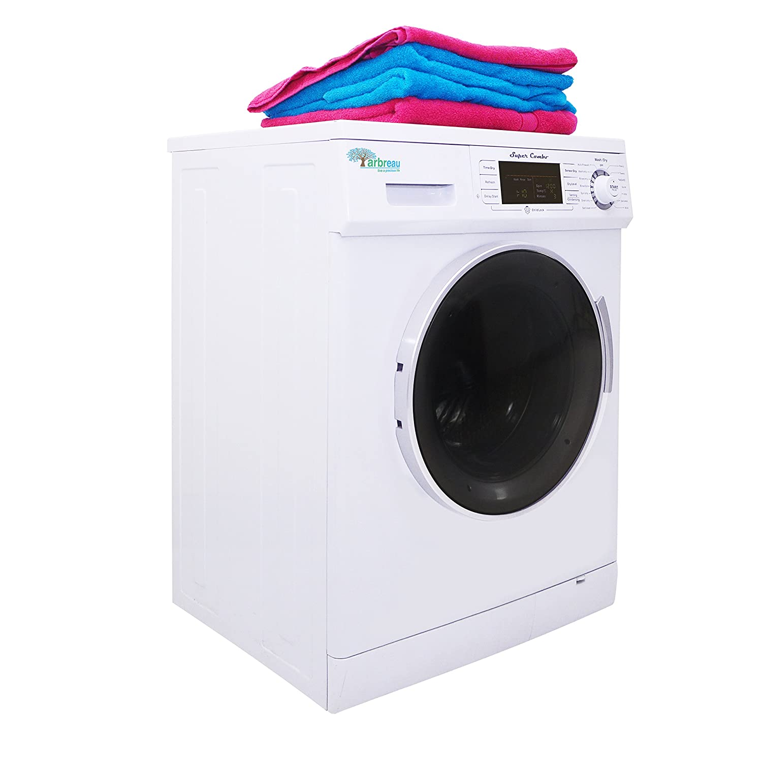 arbreau compact new combo washerdryer aw4400 cv white with drying 16 cuft rpm steel drum wash cycles 7dry cycles 11rinse