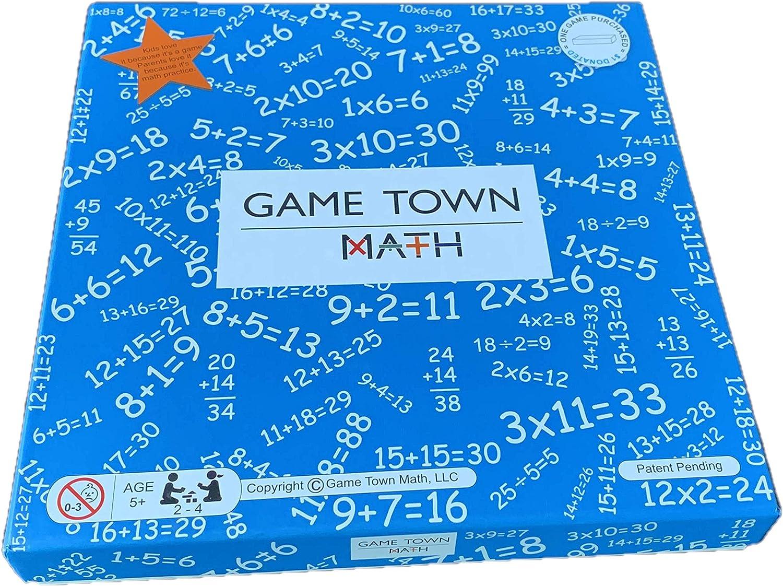 Game Town Math - Educational Math Board
